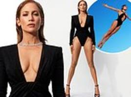 jennifer lopez, 49, displays her enviable curves as she touches on sexism