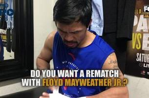 Manny Pacquiao is focusing on the Adrien Broner fight before thinking about Floyd Mayweather