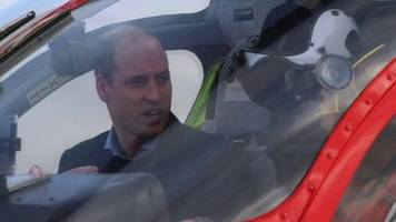 prince william flies air ambulance to hospital