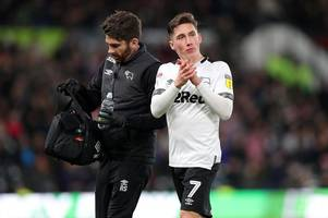 harry wilson injury blow ahead of derby county's clash with leeds united