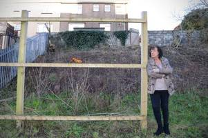 someone walked away with this woman's 40ft long 7ft high garden fence