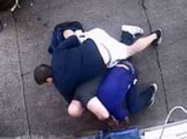 bulgarian shopkeeper releases cctv of his vicious beating at the hand of thugs in scotland