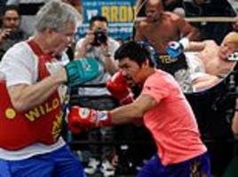pacquiao trains for broner as he hits out at mayweather vs tenshin