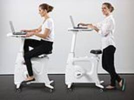 pedal while you work: $399 smart exercise bike replaces your office chair