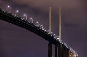 m25 dartford crossing traffic: two lanes on qeii bridge to be closed for roadworks