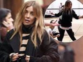 louise redknapp rushed to hospital with face injuries and wrist fracture after fall in the street
