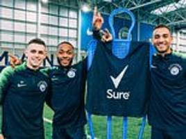 Phil Foden beats Raheem Sterling and Danilo in Manchester City shooting contest