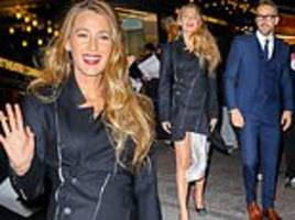 blake lively looks elegant as she and ryan reynolds attend private screening of mary poppins returns