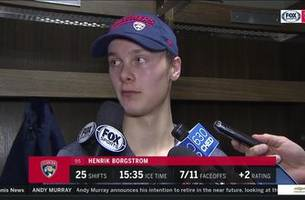 Henrik Borgstrom on Panthers' painful OT loss to Oilers
