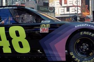 Jimmie Johnson hid his new Ally Financial paint scheme in some of his recent Instagram posts