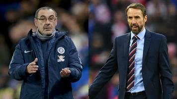 maurizio sarri: chelsea boss says his side's level 'is not less' than england's