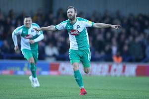 plymouth argyle midfielder david fox nominated for league one goal of the month award