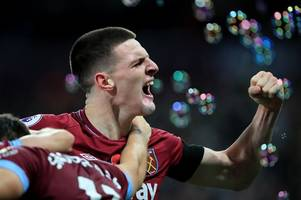 manchester city to sign west ham's declan rice for £50m, liverpool to swoop for james tarkowski and philippe coutinho