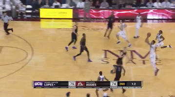 watch: johnny mccants lifts new mexico state past grand canyon with half-court buzzer beater