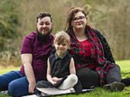 britain's first transgender family where dad was born female and his little girl began life as a boy