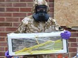 military in biohazard suits remove windows at home of ex-spy sergei skripal in 'deep clean'