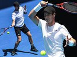 murray takes to practice courts for first time since revealing he will retire at wimbledon this year