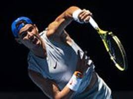 rafael nadal to test out new serve in first round australian open match against james duckworth