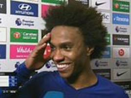 willian laughs off barcelona links as he insists he is going nowhere in january window