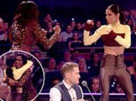 greatest dancer exc: cheryl play-fights with 'genuine mate' oti mabuse in hilarious on-set antics