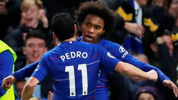 chelsea 2-1 newcastle united: pedro and willian goals give hosts victory