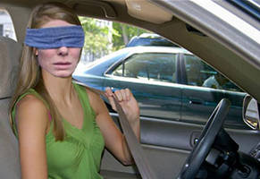 Teen Does Bird Box Challenge While Driving and Crashes Cause of Course She Did