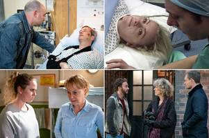 coronation street spoilers for next week - baby heartbreak and horror knife attack