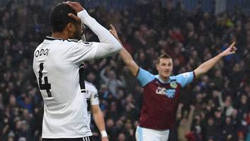 burnley 2-1 fulham: report, ratings & reaction as two own goals overturn sublime schurrle volley