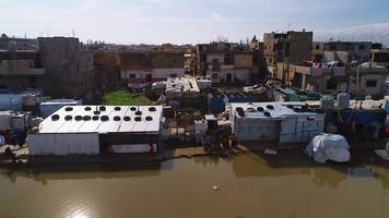 refugee homes in lebanon have been flooded