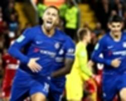 'i love anfield!' - hazard gushes over 'epic' goal against liverpool
