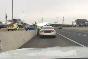 audi driver stopped at dartford crossing after speeding at 100mph in 50mph zone on a2 and m2