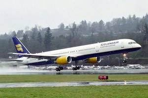 plane heading to iceland makes emergency landing in glasgow after person takes ill on board