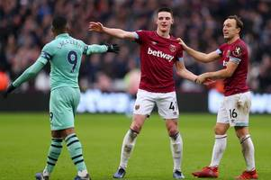 bbc pundit highlights declan rice's most important moment against arsenal - aside from his goal