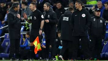 david wagner fumes after referee denies huddersfield '1000%' penalty in cardiff stalemate