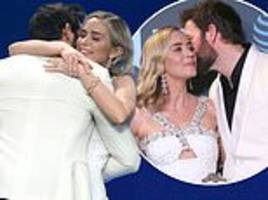 Emily Blunt and John Krasinski can't hide their love as A Quiet Place wins Critics Choice Award