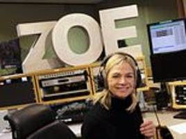 Smiling Zoe Ball arrives for first BBC Radio 2 Breakfast Show as she takes over from Chris Evans