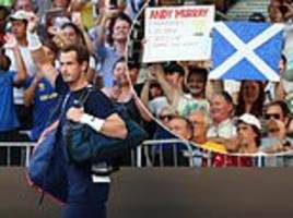 andy murray fans pay tribute to him during australian open during first-round clash