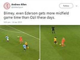 Fans react to Man City goalkeeper's heart-stopping charge outside his area against Wolves