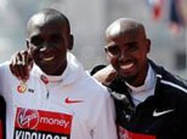 mo farah will be joined by eliud kipchoge on the start line for london marathon
