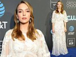 jodie comer wows in an elegant semi-sheer gown at the critics' choice awards