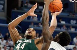 michigan state wins 10th straight, 71-56 over penn state