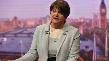 Brexit: Arlene Foster steadfast over backstop ahead of deal vote