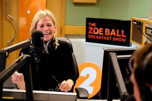 'super-excited' zoe ball makes breakfast show debut on bbc radio 2