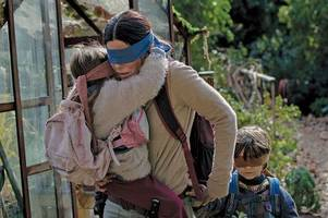 police are investigating after someone tried the bird box challenge on a railway line