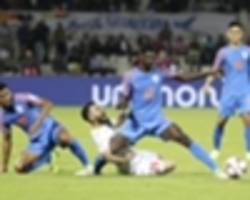 'tired' india stumble on the cusp of asian cup history