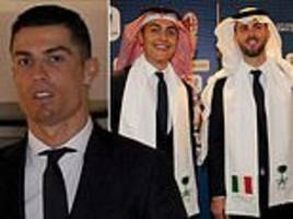 cristiano ronaldo and juventus land in jeddah ahead of italian super cup against ac milan