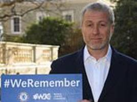 hazard and abramovich lead chelsea campaign to raise awareness about the holocaust