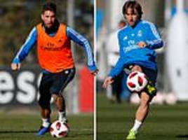 real madrid stars get down to work in training ahead of copa del rey clash