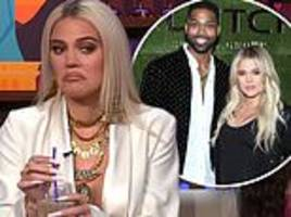 khloe kardashian branded an 'idiot' by sister kim for staying with cheating partner tristan thompson