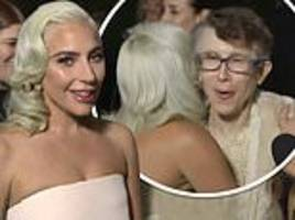 lady gaga's hug with rachel bloom's 'fangirl' mum at the critics' choice awards goes viral
